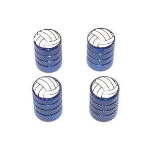 Volleyball   Sport Tire Rim Valve Stem Caps   Blue