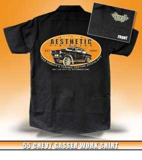 Aesthetic Finishers 55 Chevy Gasser Hot Rod Workshirt