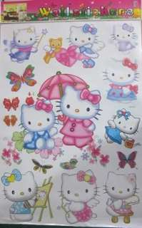 LARGE WALL STICKERS, HELLO KITTY KIDS WALL STICKERS PVC SELF ADHESIVE