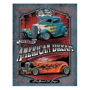 American Dream Hot Rod Car Tin Sign #H1534