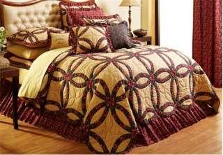 Primitive Country Bedding Sets Royalton New Burgundy Gold All Sizes
