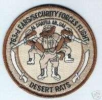 USAF 763rd EARS, Security Forces Flt. Al Dhafra AB, UAE