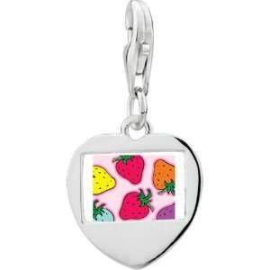 Silver Gold Plated Cartoon Photo Heart Frame Charm Pugster Jewelry