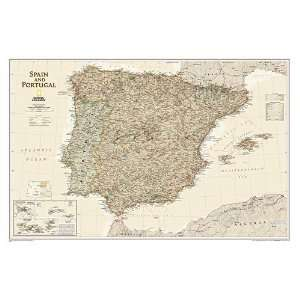 Maps RE01020466 Spain and Portugal Executive Tubed Toys & Games