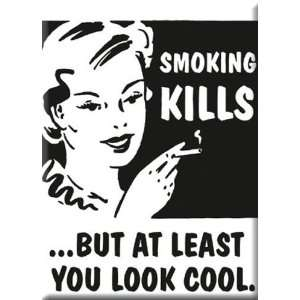 SMOKING KILLS Funny Fridge Magnet 2 1/2 x 3 1/2