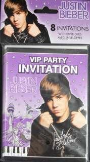 NEW Justin Bieber Birthday VIP Party Invitations 8 Pack