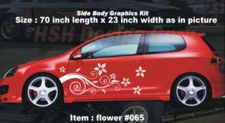 CAR AUTO VINYL BODY GRAPHICS DECALS STICKERS flower #65
