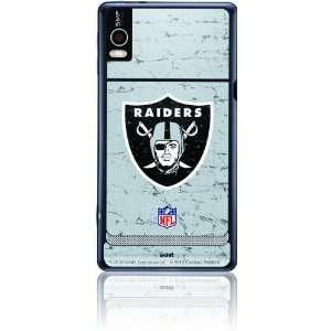 Oakland Raiders Logo   Distressed Silver: Cell Phones & Accessories