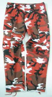 M65 ARMY COMBAT CARGO TROUSER RED CAMO 38