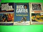 NICK CARTER BOOK LOT 3 BOOKS THE CHINESE PAYMASTER ++