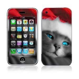 Apple iPhone 3G Skin   Christmas Kitty Cat Everything