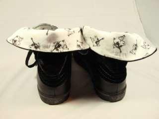 True Religion Vernon Black Leather Seqin Sneaker 9.5