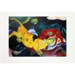 Franz Marc   Cows, Yellow   Red   Green Offset Lithograph