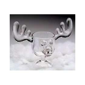 Christmas Vacation Style Eggnog Moose Mugs   Gift Boxed Set of 6