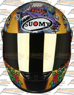 Suomy 2010 Vandal Tattoo Gold Full Face Helmet XL