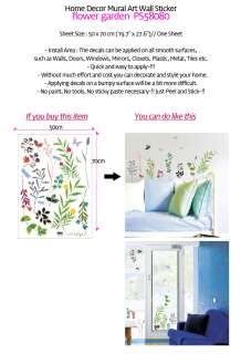 Flower Garden★Home Deco Mural Art Wall Stickers PS58080