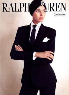 2007 Ralph Lauren Valentina Zelyaeva 3 pg magazine ad