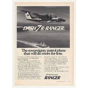 Coast Guard de Havilland Dash 7R Ranger Print Ad: Home & Kitchen