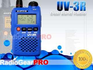 Blue BaoFeng UV 3R VHF/UHF Dual Band radio S meter