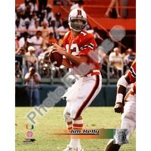 Jim Kelly   University of Miami Action by Unknown 8.00X10