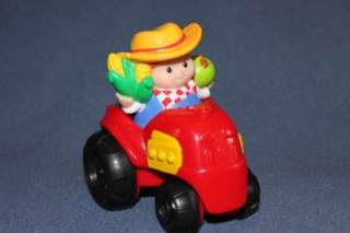FISHER PRICE 2007 Little People Farmer & FARM ANIMALS   Cow, Horse