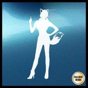 Furry Girl (B) Decal Sexy Anime Fur Fandom Tail Sticker