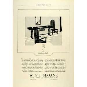 1924 Ad W. J. Sloane Jacobean Hall Foyer Furniture Elizabethan Period