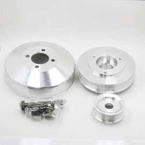 99 00 Ford Mustang Billet Aluminum Polished Underdrive Pulley Kit 4.6L