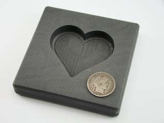 Valentines Day Heart 5oz Gold High Density Graphite Mold 3oz Silver