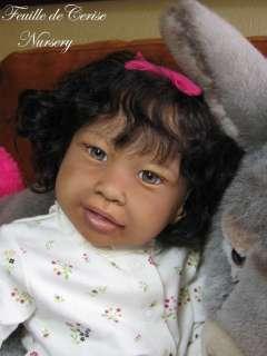 FEUILLE DE CERISE NURSERY   Reborn baby girl toddler doll Kimi Jannie