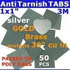 ANTI TARNISH PAPER TABS 1 50pcs 3M JEWELRY SILVER GOLD