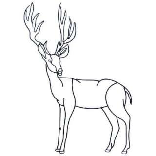 29 Inch Tall Metal Deer Outline Wall Hanging Buck