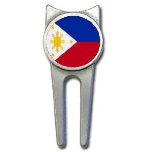 Philippines flag golf divot tool