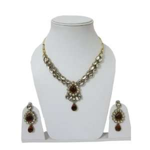 Amber Kundan Fashion Jewelry Set Latest Costume Bollywood