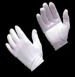 Boys/Girls 10,11,12~Childs White Costume Parade Gloves