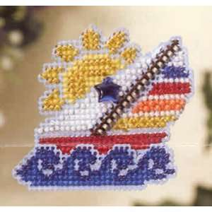 Sail Away Spring Bouquet Pin Kit (cross stitch & beads