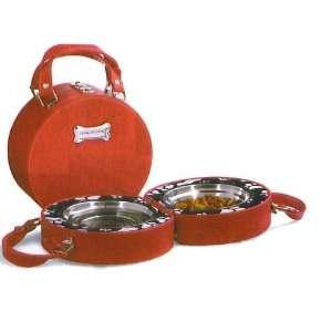 Tote a Long Feeding Travel Dog Cat Bowl Set