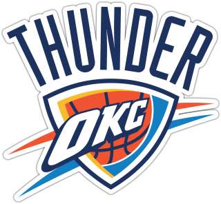 Oklahoma City Thunder NBA Basketball Car Bumper Window Boat Locker