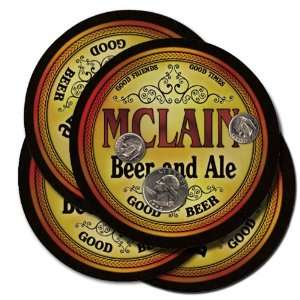 Mclain Beer and Ale Coaster Set: Kitchen & Dining