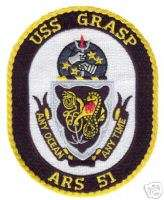 USN NAVY USS GRASP ARS 51 MILITARY CREW SHIP PATCH