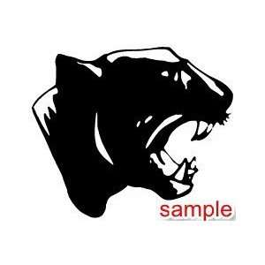 CAT PANTHER WHITE VINYL DECAL STICKER
