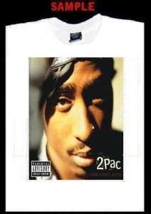 TUPAC SHAKUR CUSTOM T SHIRT TEE rap 2pac hip hop 80