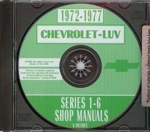 CHEVROLET LUV 1972 1977 Pickup Truck Shop Manual CD