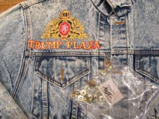 Tony Alamo TRUMP PLAZA ATLANTIC CITY Denim Jean Jacket Small Vtg