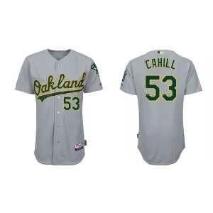 Oakland Athletics #53 Trevor Cahill Grey Baseball Jerseys for Men