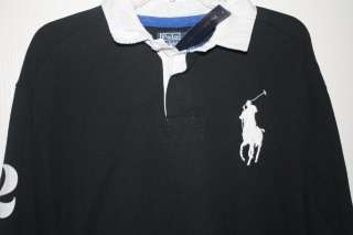 NWT Mens Polo Ralph Lauren Big Pony L/S Rugby Polo Shirt NEW XXL $145