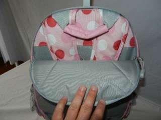 POTTERY BARN KIDS PBK Rolling Backpack *USED ONCE* Pink Red and White