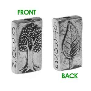 Green Girl Studios Pewter Grow Strong Tree Leaf Bead 22mm