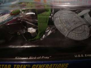 STAR TREK MICRO MACHINES ENTERPRISE NCC 1701 B & D KLINGON BIRD OF