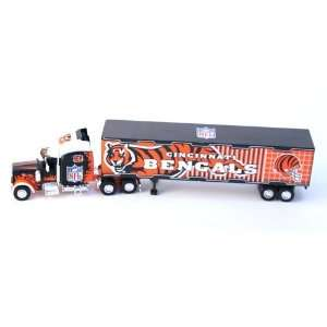 Bengals Diecast Semi Truck Tractor Trailer 1:80 Scale: Toys & Games
